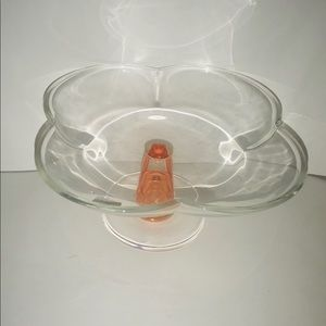 """New Caldier Italian Art Glass Serving Dish 4"""" Tall"""